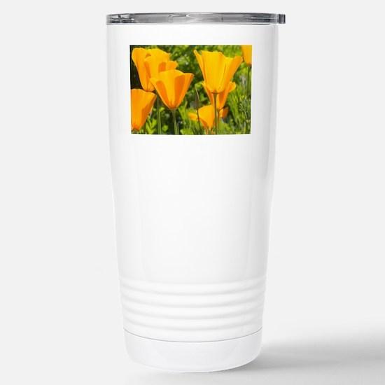 California Poppy Choir Stainless Steel Travel Mug