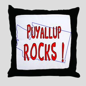 Puyallup Rocks ! Throw Pillow
