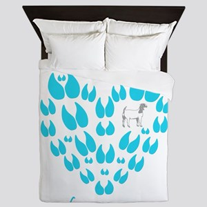Boer Goat Room for one more Queen Duvet