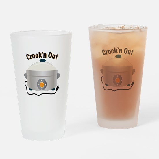Crockn Out Drinking Glass