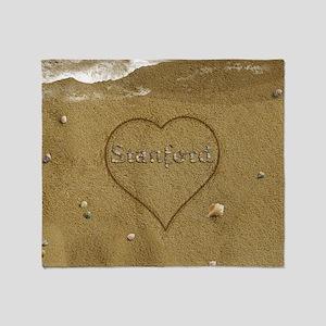 Stanford Beach Love Throw Blanket