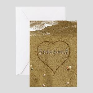 Stanford Beach Love Greeting Card