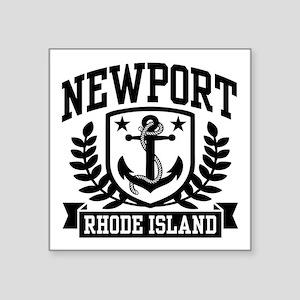 "Newport Rhode Island Square Sticker 3"" x 3"""