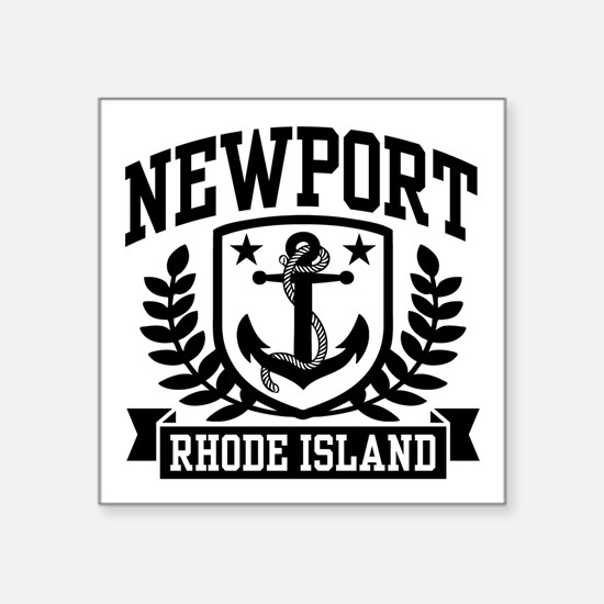 "Newport Rhode Island Square Sticker 3"" x 3"""