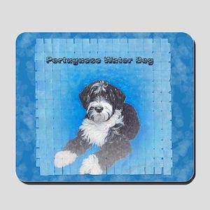 Portuguese Water Dog Black wi Mousepad