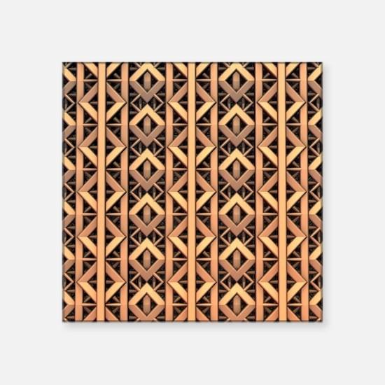 Copper Diamond Pattern Sticker