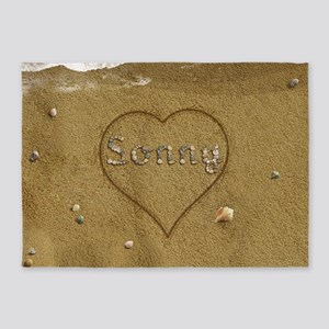 Sonny Beach Love 5'x7'Area Rug