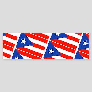 Puerto Rican Flag Boricua Pahtay 23 Bumper Sticker
