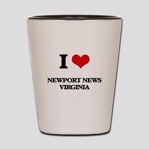 I love Newport News Virginia Shot Glass
