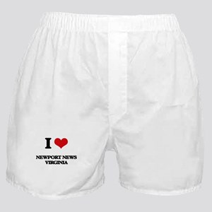 I love Newport News Virginia Boxer Shorts