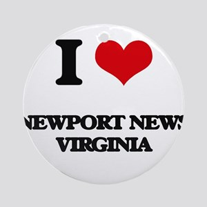 I love Newport News Virginia Ornament (Round)