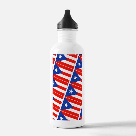 Puerto Rican Flag Bori Water Bottle