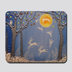 Dance of the moon hares Mousepad