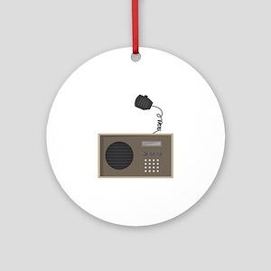 Ham Radio Ornament (Round)