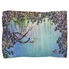 Purple Wisteria Springtime Pillow Sham