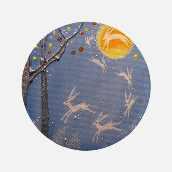 """Dance of the moon hares 3.5"""" Button"""