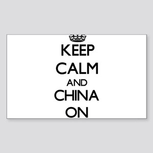 Keep Calm and China ON Sticker