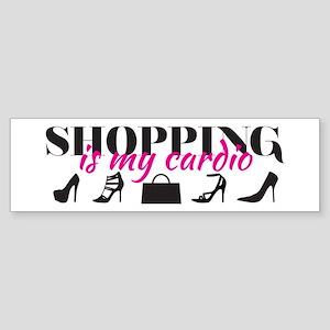 SATC: Shopping Is My Cardio Bumper Sticker