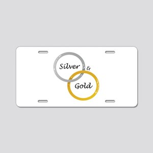 Silver & Gold Aluminum License Plate