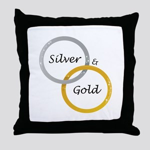 Silver & Gold Throw Pillow