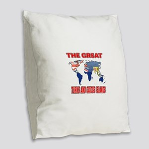 The Great Turks and Caicos Isl Burlap Throw Pillow
