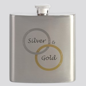 Silver & Gold Flask