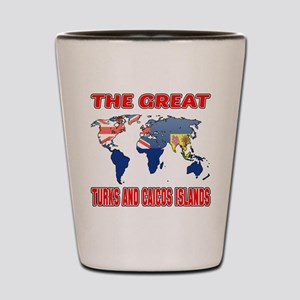 The Great Turks and Caicos Islands Shot Glass
