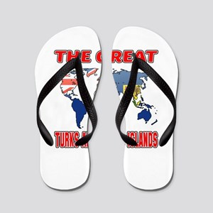 The Great Turks and Caicos Islands Flip Flops