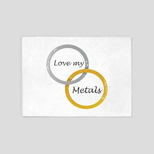 Love My Metals 5'x7'Area Rug