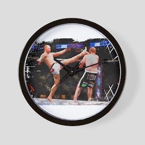 Mixed Martial Arts - A Kick to the Head Wall Clock