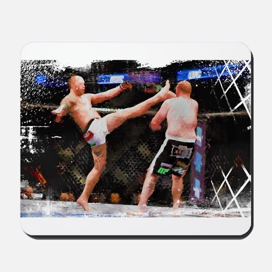 Mixed Martial Arts - A Kick to the Head Mousepad