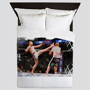 Mixed Martial Arts - A Kick to the Hea Queen Duvet