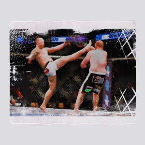 Mixed Martial Arts - A Kick to the H Throw Blanket