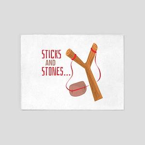 Sticks and Stones 5'x7'Area Rug