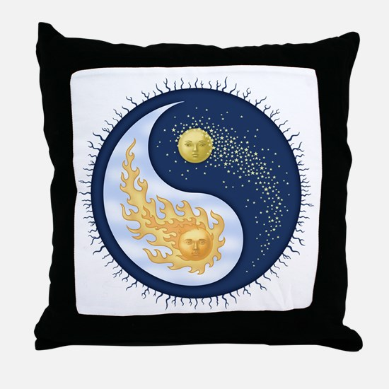 Sun-Moon Throw Pillow