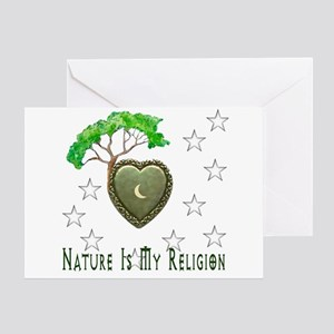 Nature Is My Religion Greeting Card