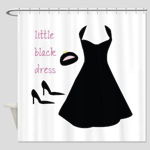 Little Black Dress Shower Curtain
