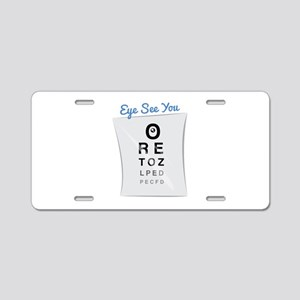 Eye See You Aluminum License Plate