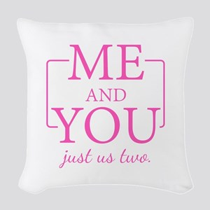 SATC: Me and You Woven Throw Pillow