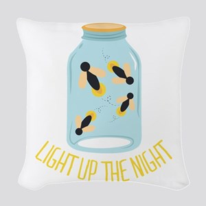 Light Up Night Woven Throw Pillow