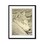 Shiba Inu Dog Framed Panel Print