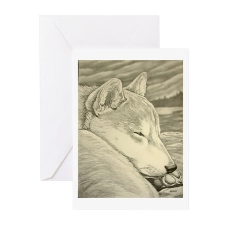 Shiba Inu Dog Greeting Cards (Pk of 10)