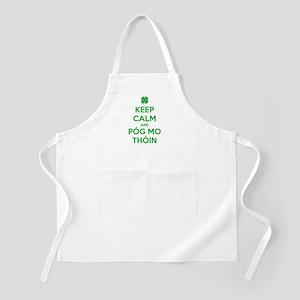 Keep Calm and Póg Mo Thóin Apron