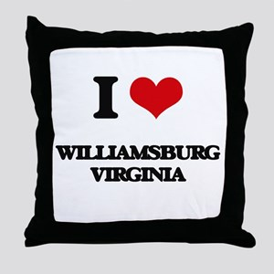 I love Williamsburg Virginia Throw Pillow