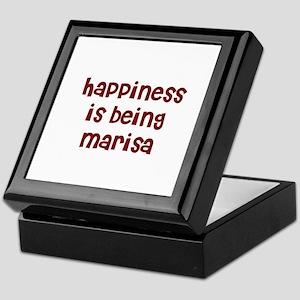 happiness is being Marisa Keepsake Box