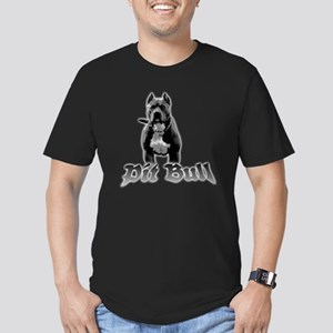 pit bull Men's Fitted T-Shirt (dark)
