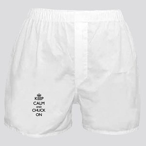 Keep Calm and Chuck ON Boxer Shorts