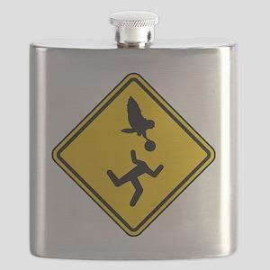 Warning: Owl Attack - May Lose Head! Flask