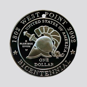 West Point Bicentennial Dollar Ornament (Round)