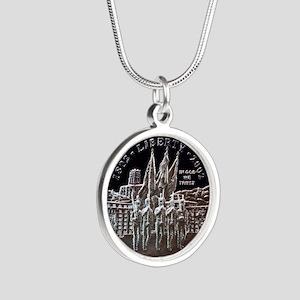 West Point Bicentennial Doll Silver Round Necklace